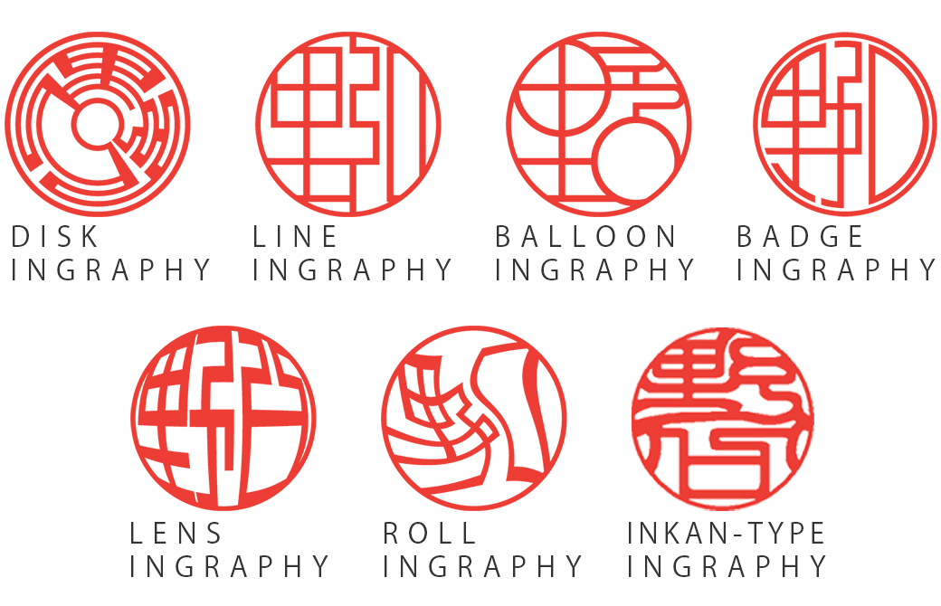ネーム印グラフィー:オフィスや職場でも個性をアピール