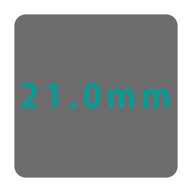 21.0mm