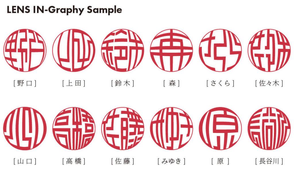 レンズ印グラフィー