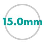 直径サイズ 15.0mm