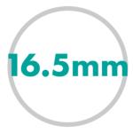 直径サイズ 16.5mm