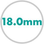 直径サイズ 18.0mm